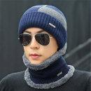 남성 겨울 방한 모자 + 넥워머 세트 니트비니