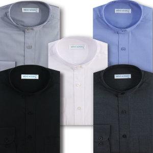 차이나카라 셔츠 일반핏 와이셔츠 긴팔 반팔 셔츠 9종