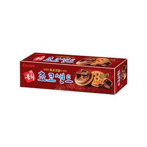 크라운 국희 초코샌드 70g/과자/간식/비스킷