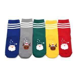 삼선산타 5족 유아동 크리스마스 선물 양말 세트