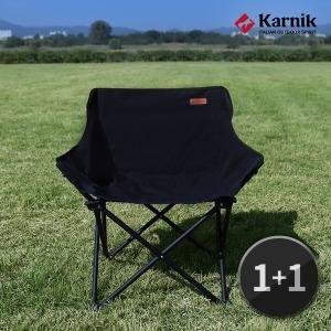 캠핑체어 낚시 간이 야외 캠핑용품 폴딩의자(블랙) 1+1