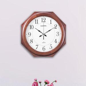카파시계  (당일무료발송/불량맞교환AS) 카파 W640 무소음 원목 대형벽시계 국내산 팔