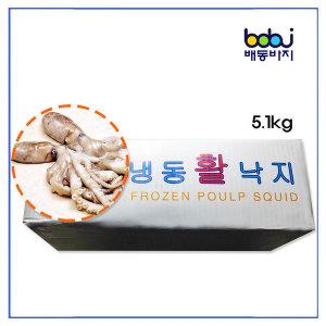 배동바지 냉동 낙지 (3미-300/500)(중국산) 5.1Kg