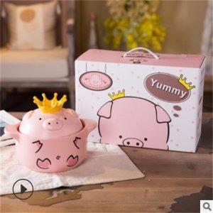 캐릭터 돼지 뚝배기 라면 전골 냄비 친구 결혼선물