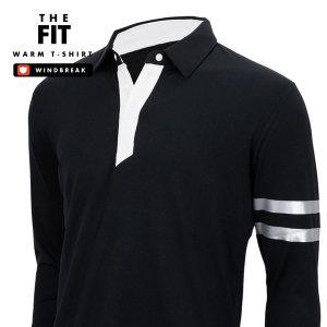핏트 스판 기모티셔츠 남자 남성 폴로티 카라티셔츠