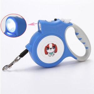 (도담펫) LED 강아지 고양이 산책 자동견인줄 리드줄