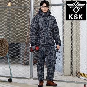 KSK-800 기모 방한복 상의 하의 개별판매 얼룩-네이비