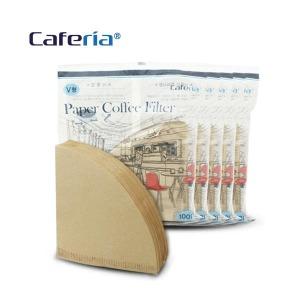 (현대Hmall)카페리아 커피여과지 V샵2 (500매)  커피필터/거름종이/핸드드립/드립용품/커피용품
