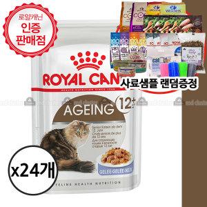 로얄캐닌 에이징12+ 젤리 85gx24개+사료샘플2개
