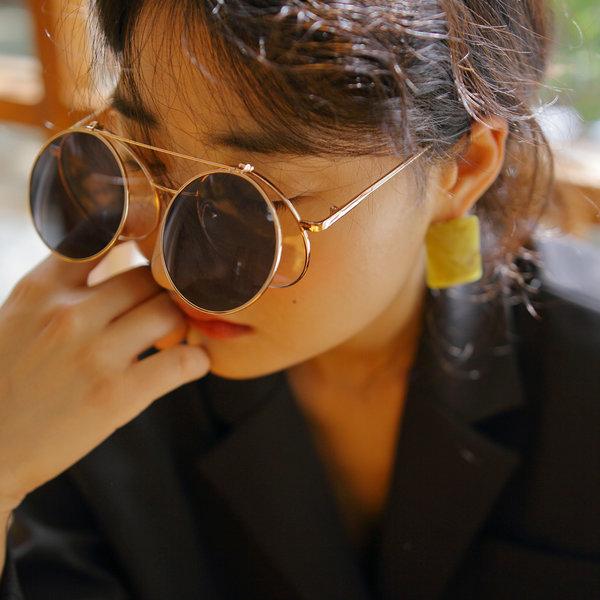 남성 여성 듀얼 플립업 클립온 안경 일체형 선글라스