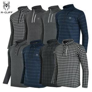 겨울 R-CLIFF 클리프 남성 겨울 스판 기모 티셔츠