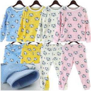 유아 아동 어린이 극세사 밍크 수면 잠옷 파마자 세트