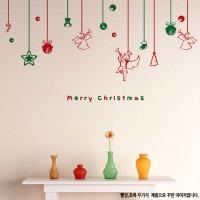 크리스마스 x-mas 인테리어 스티커 트리 장식 볼 눈
