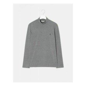 그레이 솔리드 기모 터틀넥 티셔츠 (BC9941A223)