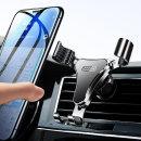 차량용 핸드폰 거치대 아이폰 받침대 2단안전장금 실버