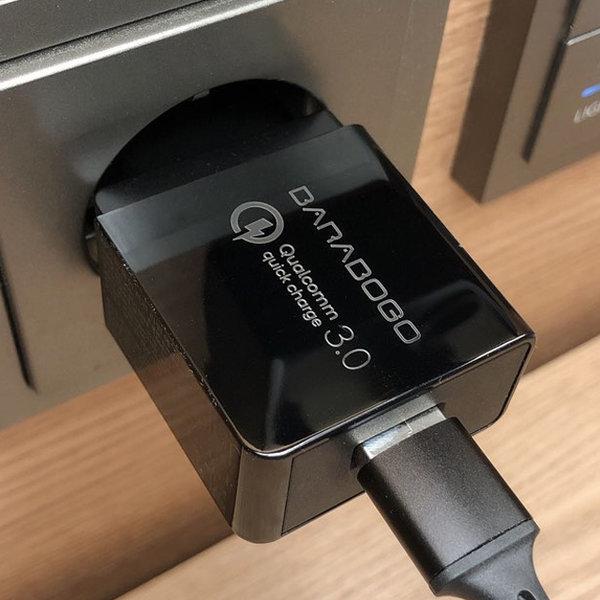 바라보고 퀄컴 퀵차지 QC 3.0 18W 초고속 충전기