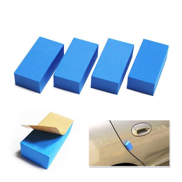 순정형 사각 도어가드 문콕방지 블루색상 압축EVA