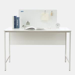 티케 철제 공부 테이블 데스크파티션 1200 화이트