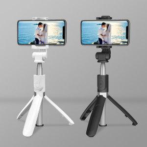 2IN1 무선 블루투스 셀카봉 삼각대 아이폰 블랙+C젠더