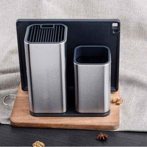 칼 꽂이 스텐 정리함 주방용품 수저통 도마