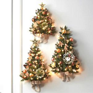 크리스마스트리 하프벽트리 로즈골드 대 트리풀세트