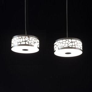 LED 물방울 2등 팬던트 식탁등 25W 식탁등 국산
