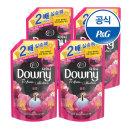 초고농축 다우니 퍼퓸 섬유유연제 핑크 블룸 1.6L 4개