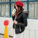 겨울 여성 투톤 패딩후드자켓 경량잠바 보온 여자점퍼