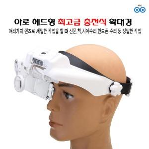 아로 헤드형 고급 충전식 확대경 모자 캡형 머리형