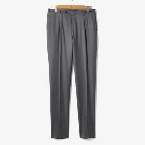 (PT01)SLIM FIT 1 PENCE WOOL PANTS GRAY/PT92M30002A13