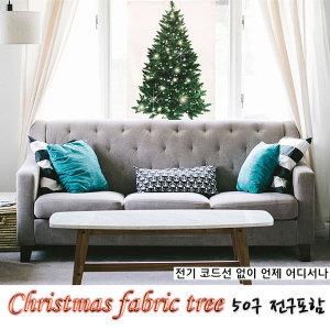 1 크리스마스 패브릭 트리 파티소품 현수막 전구포함