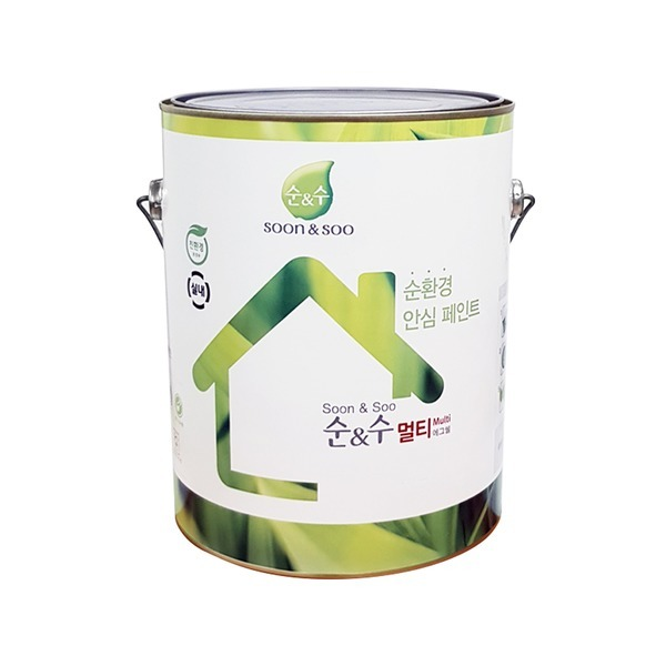 순앤수 멀티페인트 3.8L 친환경 방문/목재/벽지/벽면