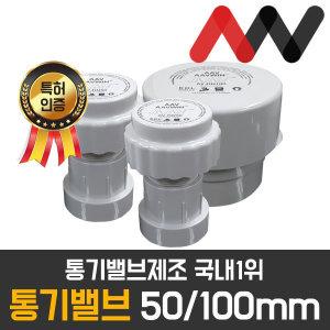 AAV 통기밸브 50mm 100mm 국내1위 배관자재 특허출원