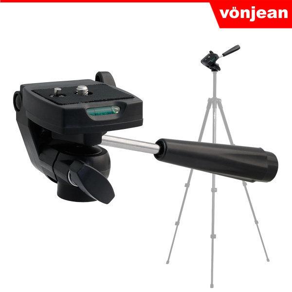 본젠 VD-603 미니 비디오 카메라 3way 헤드 - 1/4 스크류 (미러리스 캠코더 액션캠 삼각대 등)