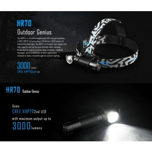 Imalent hr70 led 손전등 헤드 램프 3000lm 충전식