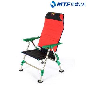 (머털낚시) 섬 바이오 오리발 민물 낚시 의자 접이식 휴대용 등받이