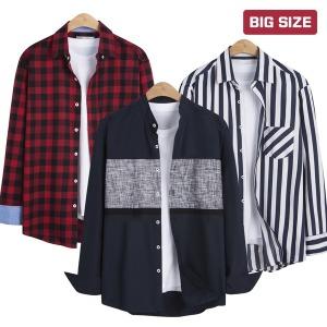남자 빅사이즈셔츠/긴팔셔츠/가을셔츠/ 셔츠모음전