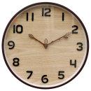 잎새 벽시계 베이지 무소음 인테리어시계 (11월 신작)