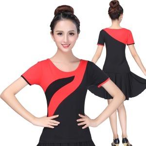 댄스복 플라자댄스 패션 여성상의 반팔 댄서 무용복