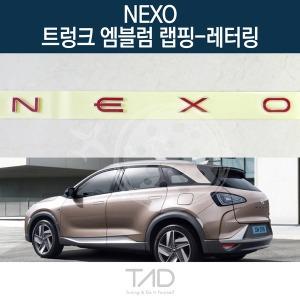 TaD 넥쏘 순정 트렁크엠블럼 랩핑 레터링/스티커 데칼