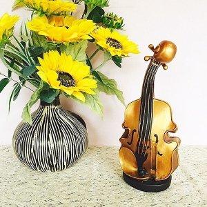 골드 바이올린 악기장식 장식소품 디자인
