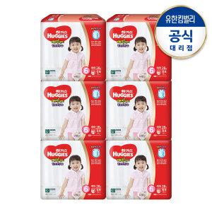매직팬티컴포트핏 6단계 여아 28매x6팩/기저귀 /한박스