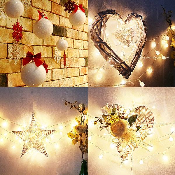 눈꽃 커텐+스노우볼-크리스마스장식 트리장식 벽트리
