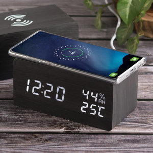 휴대폰 스마트폰 무선 충전 LED 탁상 시계