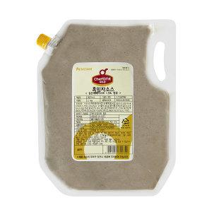 쉐프원 흑임자소스 2kg/청정원 소스/드레싱