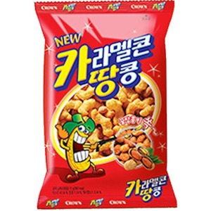크라운 카라멜콘 땅콩 72g 간식/사무실/안주