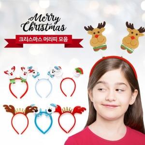 크리스마스 파티 용품 머리띠 스프링 LED 머리띠