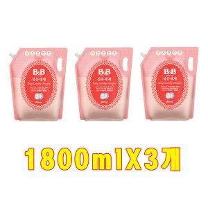 비앤비 섬유세제 액체 캡형 리필 1800ml X 3개/향균