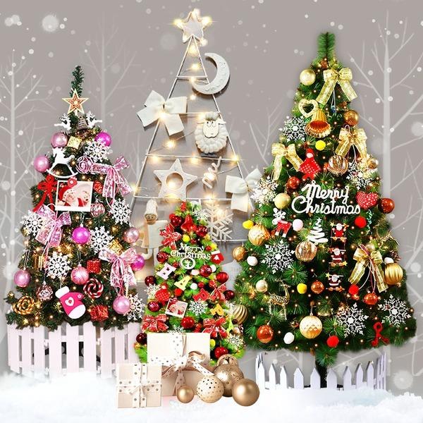 웰스트리 1m~1.6m 크리스마스트리 풀세트 벽트리