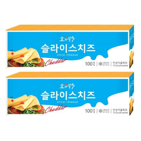 동원 소와나무 슬라이스 치즈 1.8kg x 2개 (총 200장)